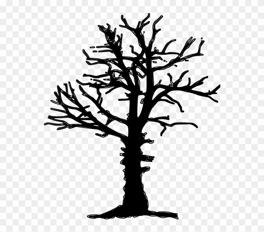 Clipart Of Dead Tree Silhouette Vector Image - Dead Tree Pixel Art #183724