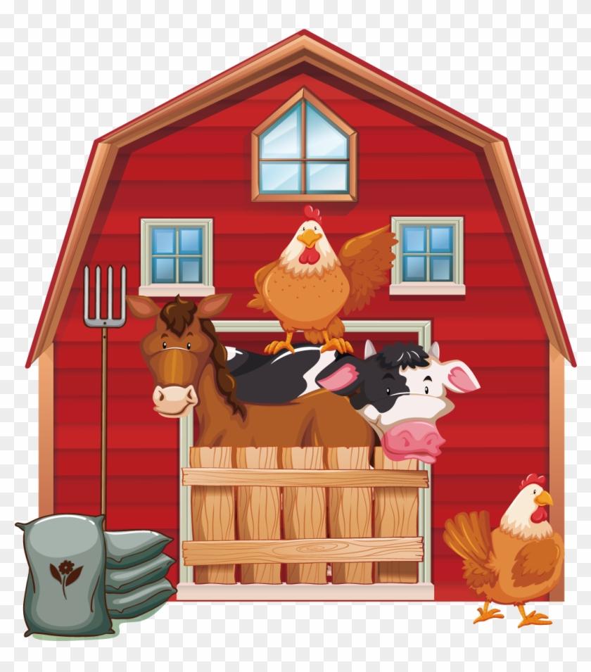 Cattle Silo Farm Barn Clip Art - Farm Barn Animals Free #183777