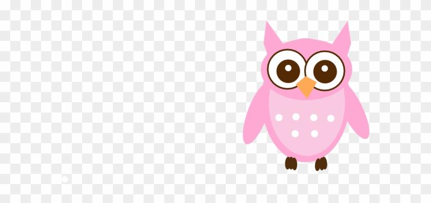 Cute Pink Owl Clip Art - Cute Pink Owl #183847