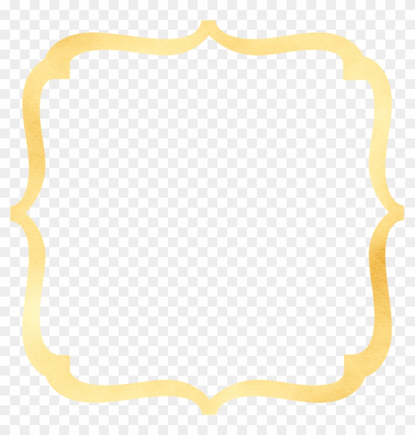 Bracket Frame Border - Gold Bracket Frame Clipart #183998