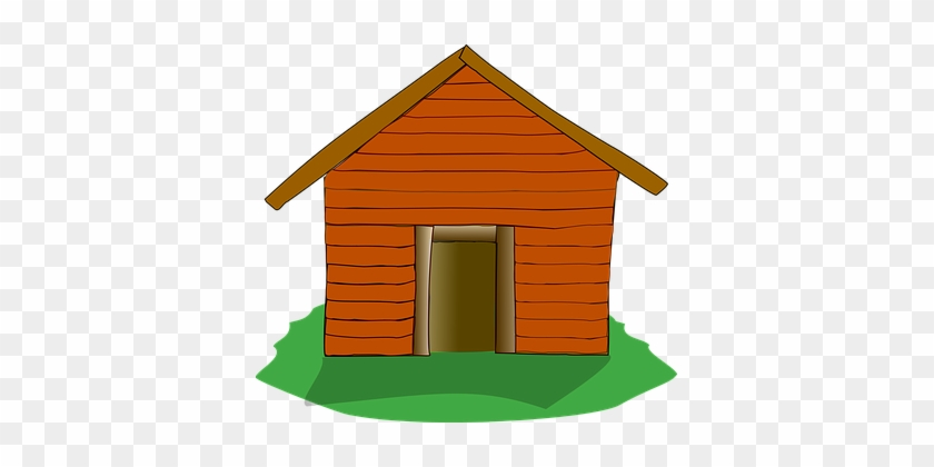 Log Cabin Settlers Cabin House Home Rustic - Three Little Pigs Wood House #184027