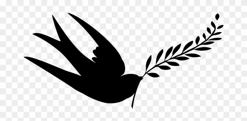 Peace Swallow Birds Silhouette Vector Peac - Silhouette Dove Transparent #184105