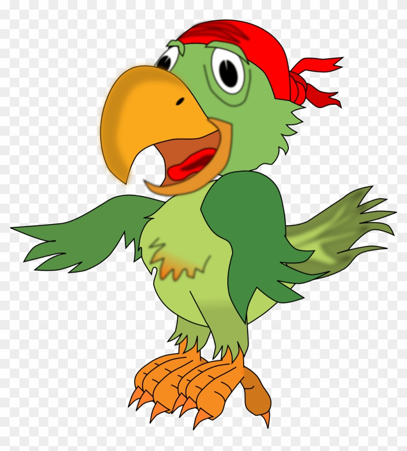 Funny Pirates Cliparts - Pirate Parrot Clip Art #184169