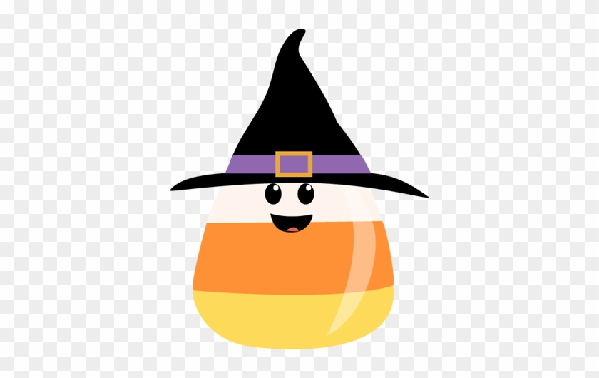 Candy Corn Wearing Witches Hat - Candy Corn Clip Art #184235
