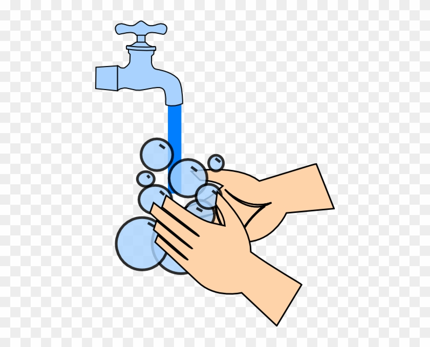 Hand Clipart Animated - Wash Your Hands With Soap And Water #184709