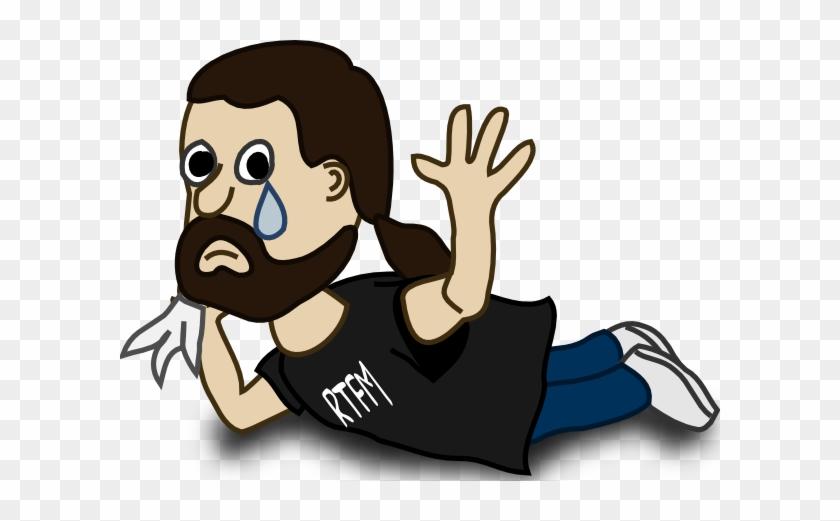 Man Clip Art At Clker - Funny Man Crying Cartoon #184746