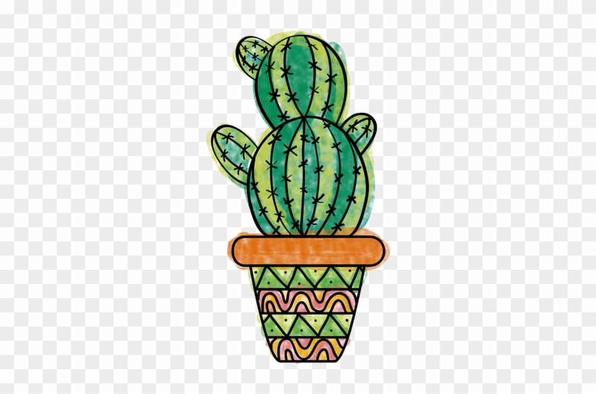 Hand Drawn Colorful Multiple Cactus Pot Png - Cactus Png #185053