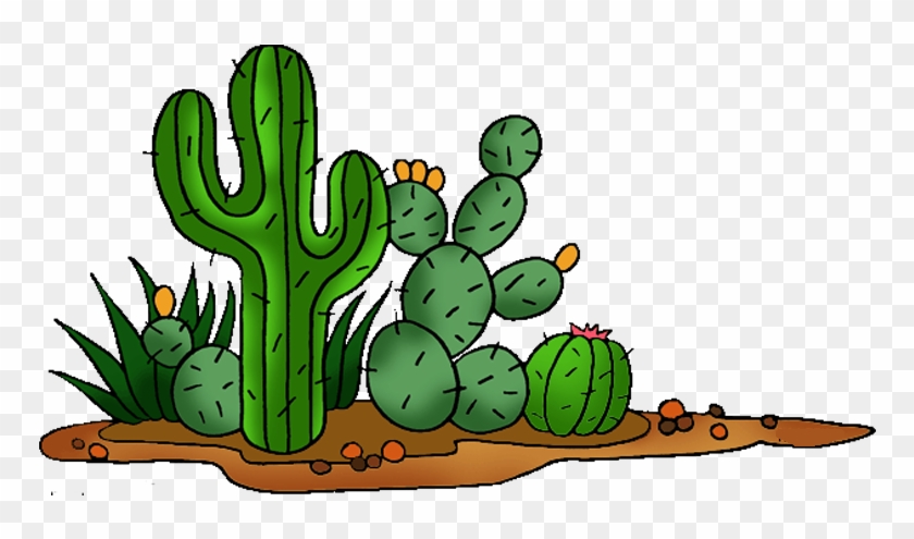 Cactaceae Saguaro Prickly Pear Clip Art - Cactus Clipart #185147