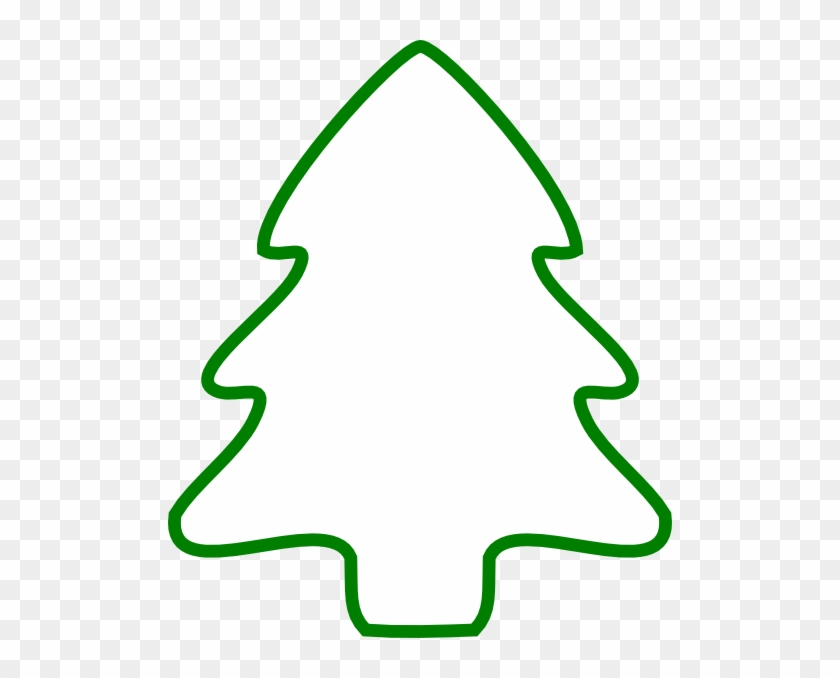 Christmas Tree Outline - Free Transparent PNG Clipart Images Download