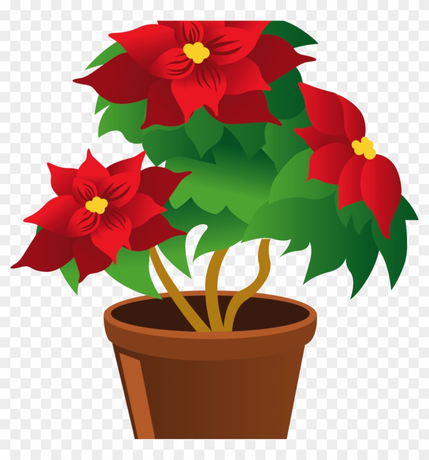 Potted Plant Clipart Image Black And White Cartoon - Flowers And Plants Clipart #185261