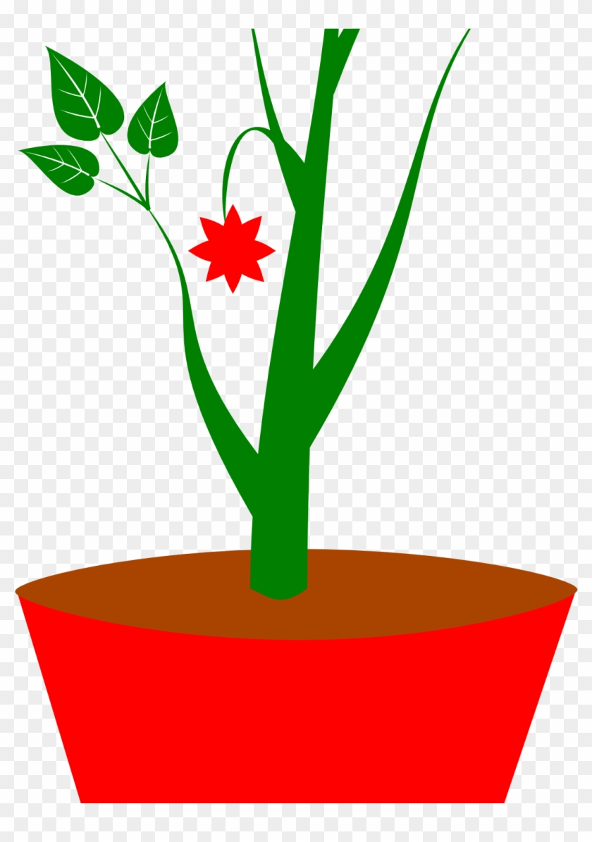 Potted Plant Clipart Flower Pot Clipart Black And White Sometimes