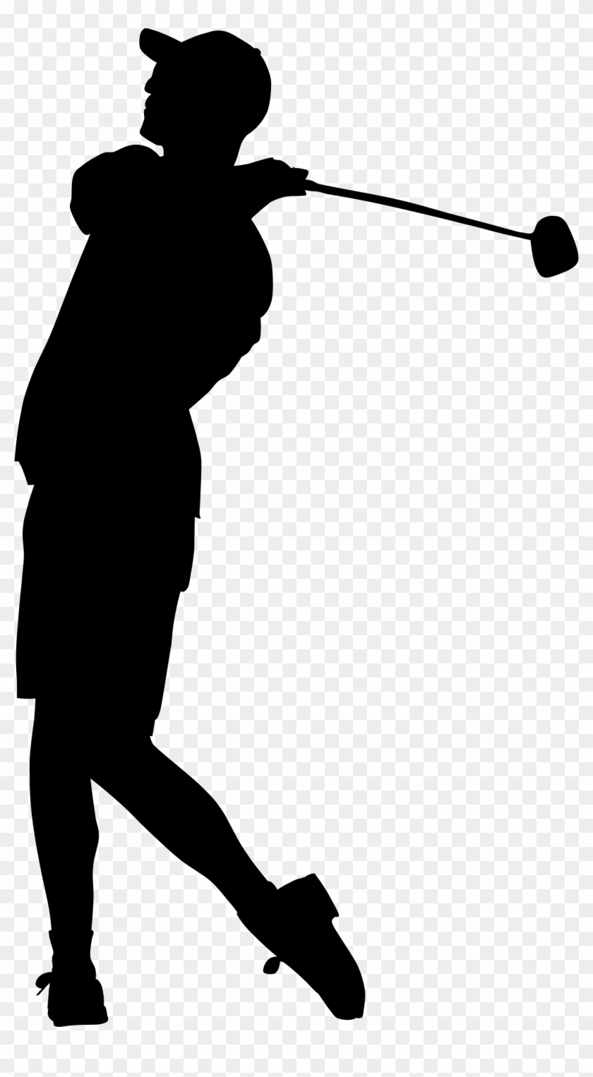 Silhouette Clipart Golf Silhouette Of A Golfer Free Transparent