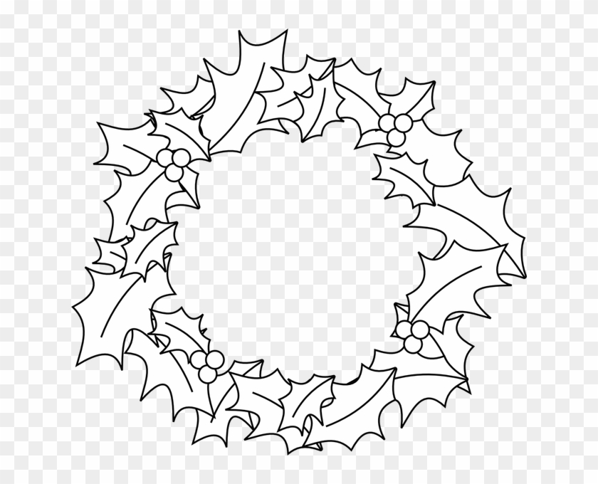 image relating to Christmas Wreath Printable identified as Black And White Xmas Xmas Wreath Template