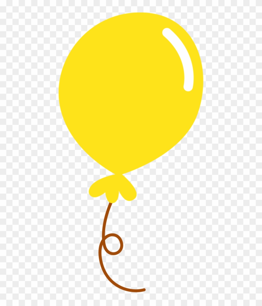 Cards - Yellow Balloons Clipart #185557