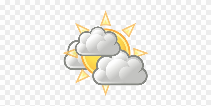 Partly Cloudy Clipart Png - Partly Cloudy Weather Icon #185659