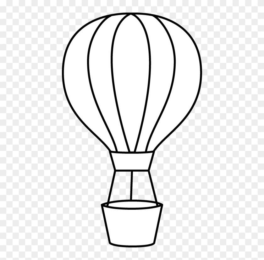 Hot Air Balloon Black And White Hot Air Balloon Clipart Hot Air