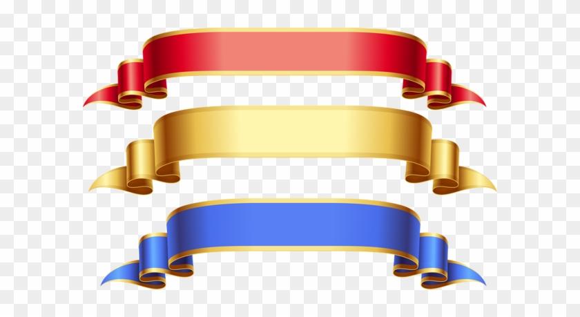 Banners And Ribbons Clip Art - Gold Ribbon Banner Hd #185791