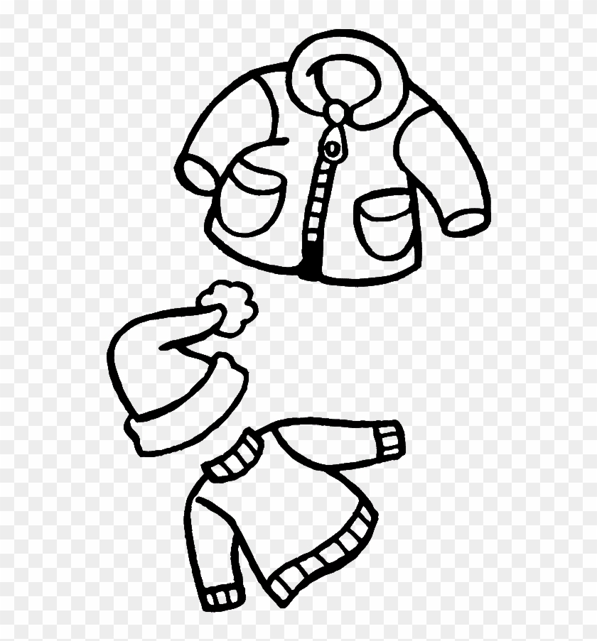 warm clothes winter coloring for kids drawing of winter clothes