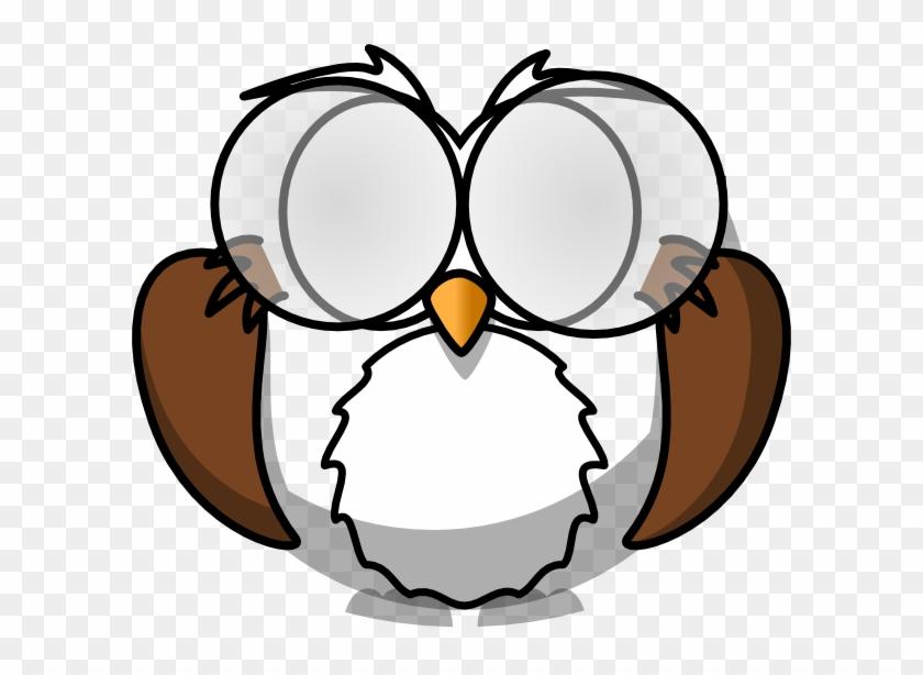 Suspicious Owl 2 Clip Art At Clker Com Vector Clip - Owl Coloring Pages #1064391