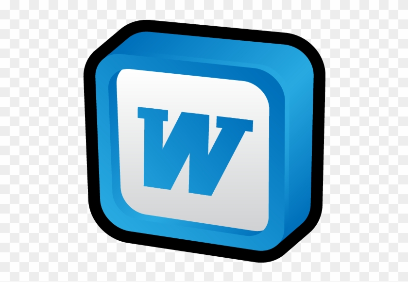 Microsoft Office Word Icon - Microsoft Word 3d Icon #1065080