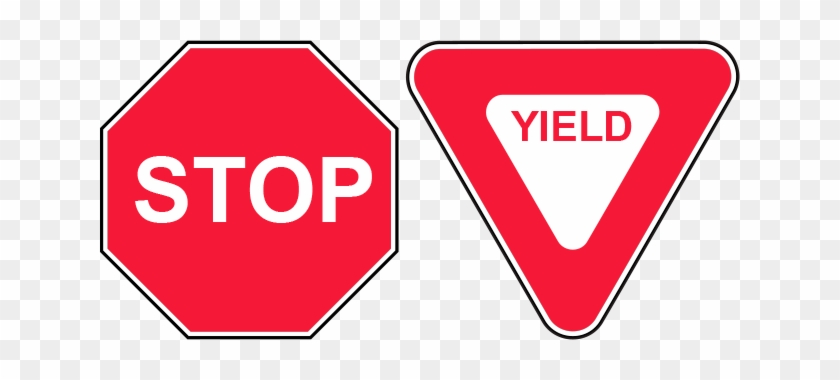 Blank Stop Sign Clip Art Download - Stop Sign Vs Yield Sign - Free
