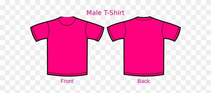 Pink T Shirt Clip Art At Clker Com Vector Clip Art - Plane T Shirt Pink #1066445