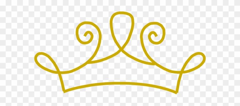 Princess Crown Gold Clip Art At Clker Com Vector Clip - Gold Princess Crown Clipart #1068050