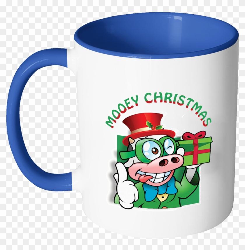 Mooey Christmas Cow Ugly Christmas Sweater 11oz Accent Mug Free