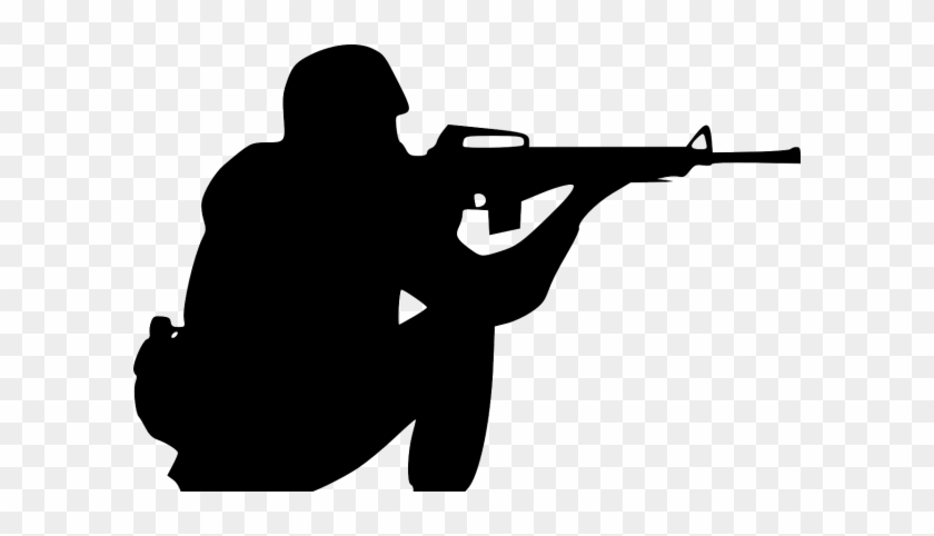 Thompson Woos Gun Rights Contingent - Army Soldier Silhouette #1068694