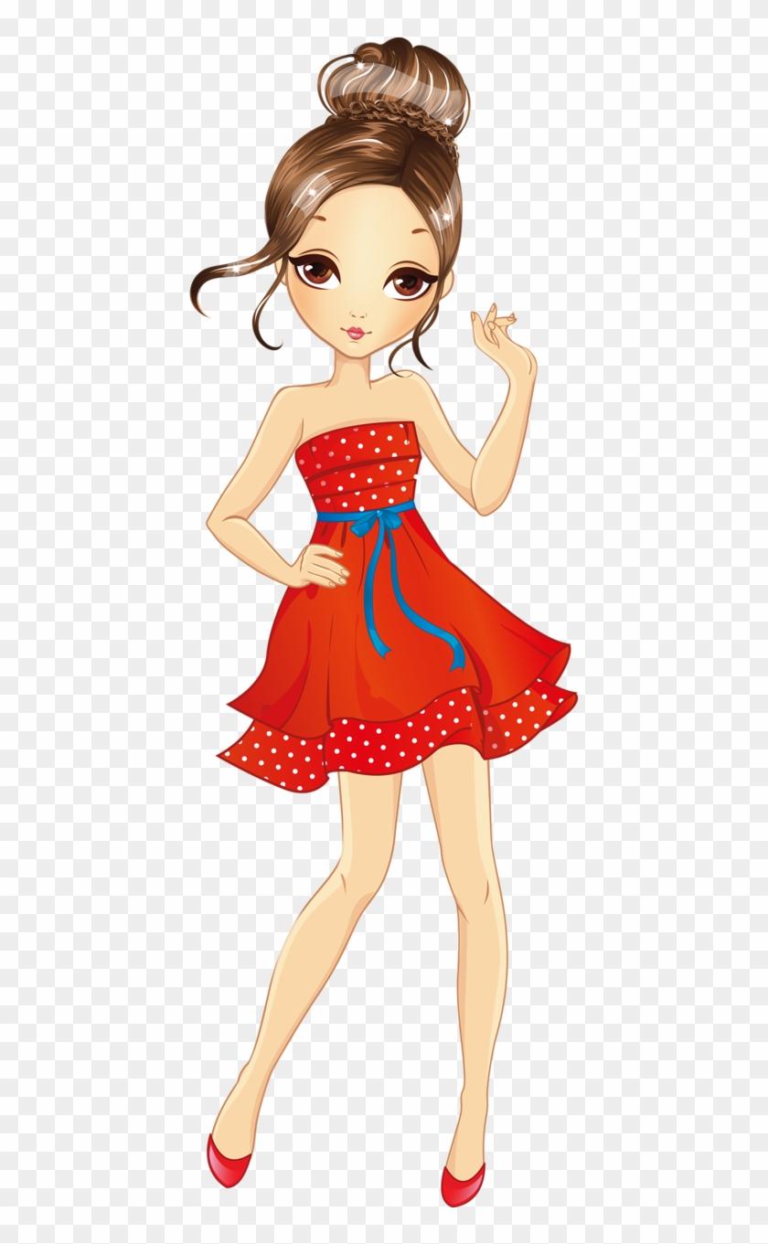 Shutterstock 302891183 Beautiful Girl Cartoon Png Free