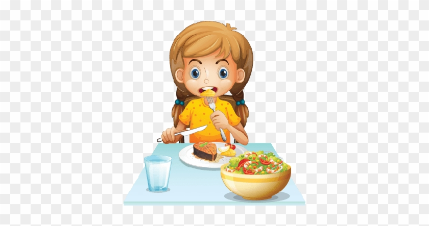 Kids Eating Clipart Png - Eat Breakfast Clipart #1070915