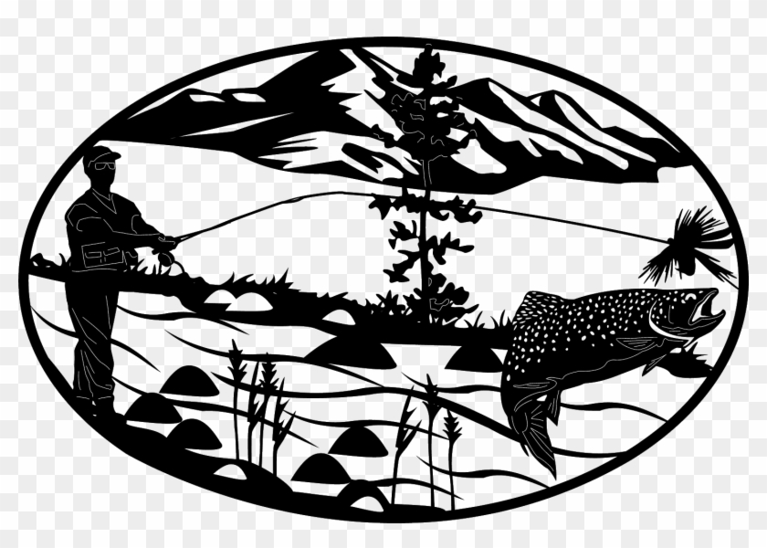 Download Filing Gone Fishing Sign Black And White Free Transparent Png Clipart Images Download