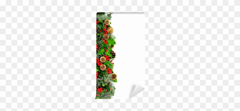 Christmas Holly Border Clipart.Fotobehang Kerst Hulst Rand Verticale Pixers Christmas