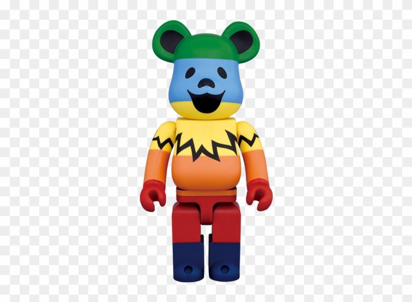 Be@rbrick 1000% Grateful Dead Dancing Bear Rainbow - Medicom Be