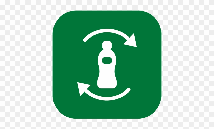 Recycle Bottle - Circle Green Leaf Png #1071667
