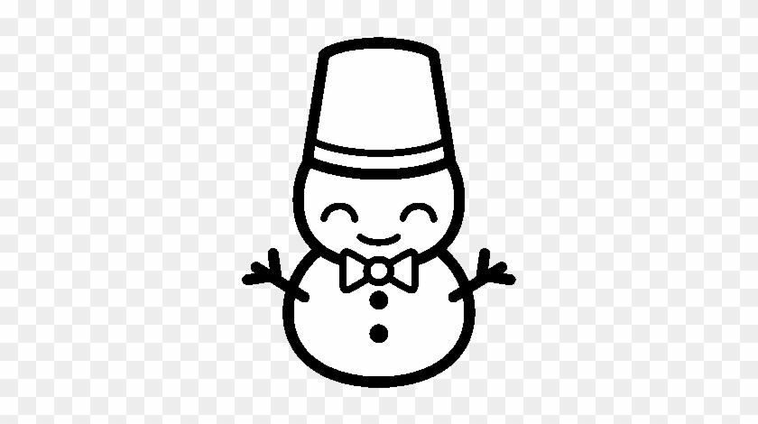 Snowman 5 Coloring Page Muñeco De Nieve Kawaii Para Colorear