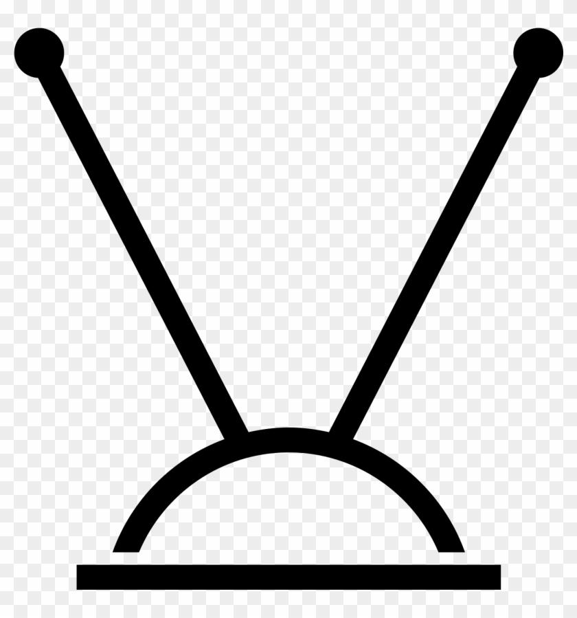 Television Clipart Tv Antenna - Tv Antenna Icon #1072771