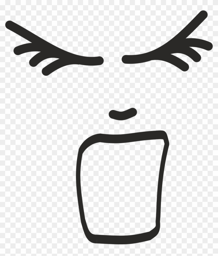 Screaming Face Clip Art #1073078