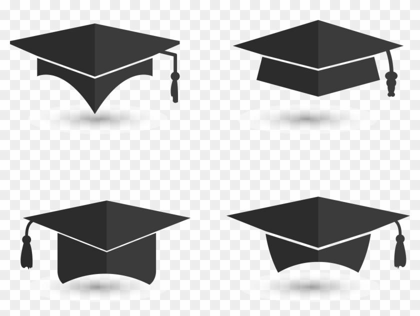 Graduation Ceremony Square Academic Cap Euclidean Vector - Free Vector Graduation Cap #1073197