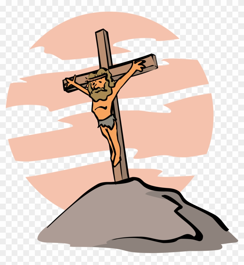 Jesus Easter Clipart - Jesus On The Cross Cartoon #1073847