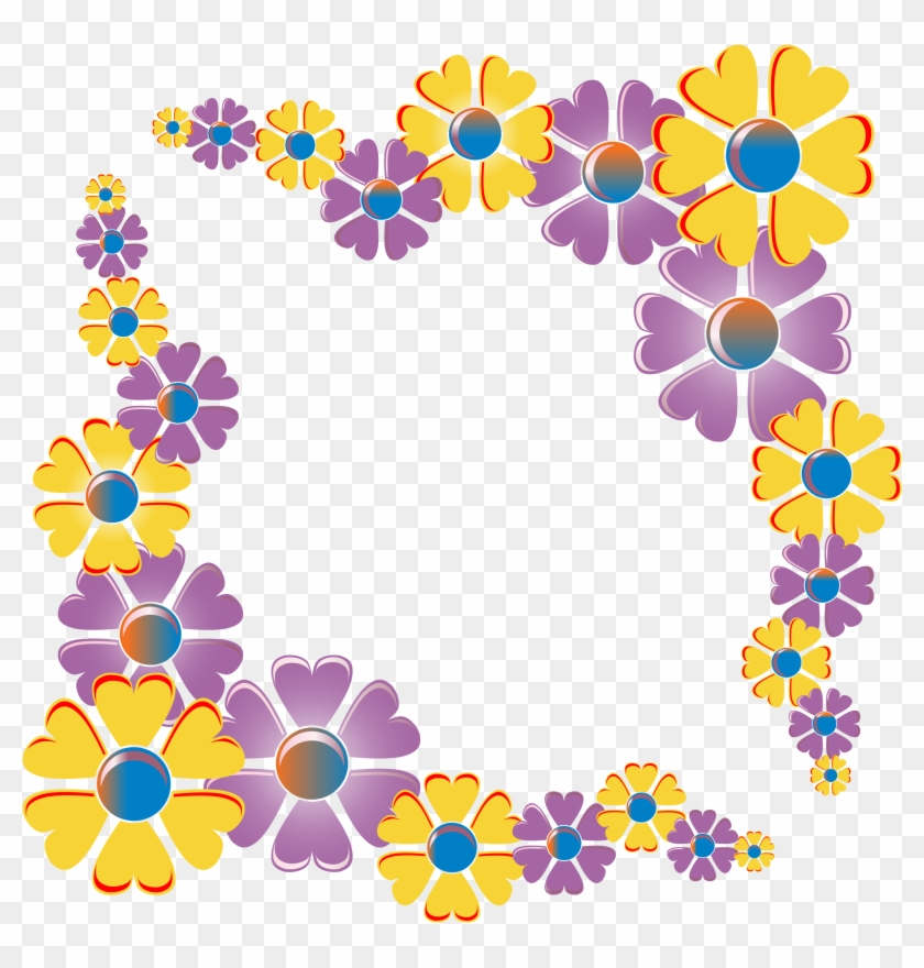 This Free Icons Png Design Of Flower Corner Variation - Flower Corner Border Png #1074280
