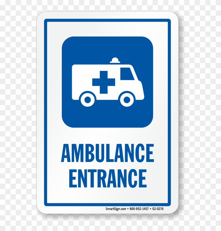 Zoom, Price, Buy - Brady 142644 Ambulance Ent Sign, 4 X 4 In, Ss #1074409