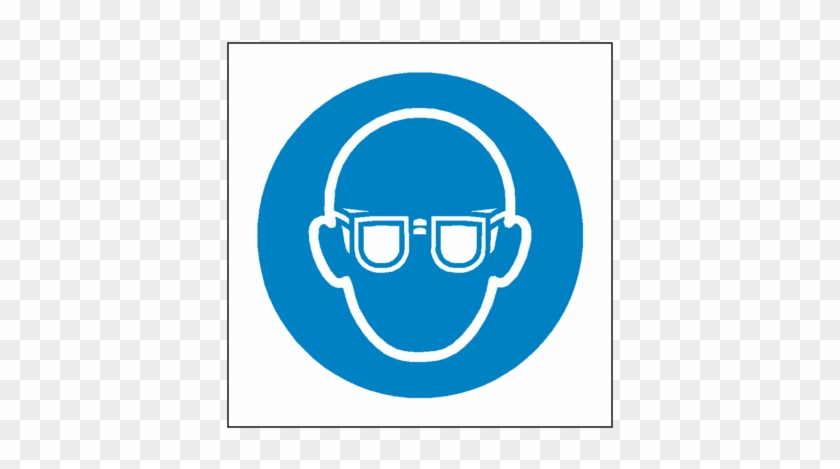 Wear Eye Protection Symbol Sign - General Safety Labels - Wear Eye Protection #1074432