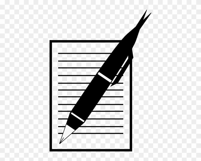 Paper And Pen Clip Art At Clker Com Vector Clip Art - Paper And Pen Vector #1074905