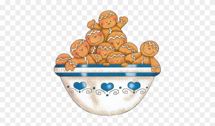 Gingerbread Men In Bowl Christmas Food Animated Gifs Free