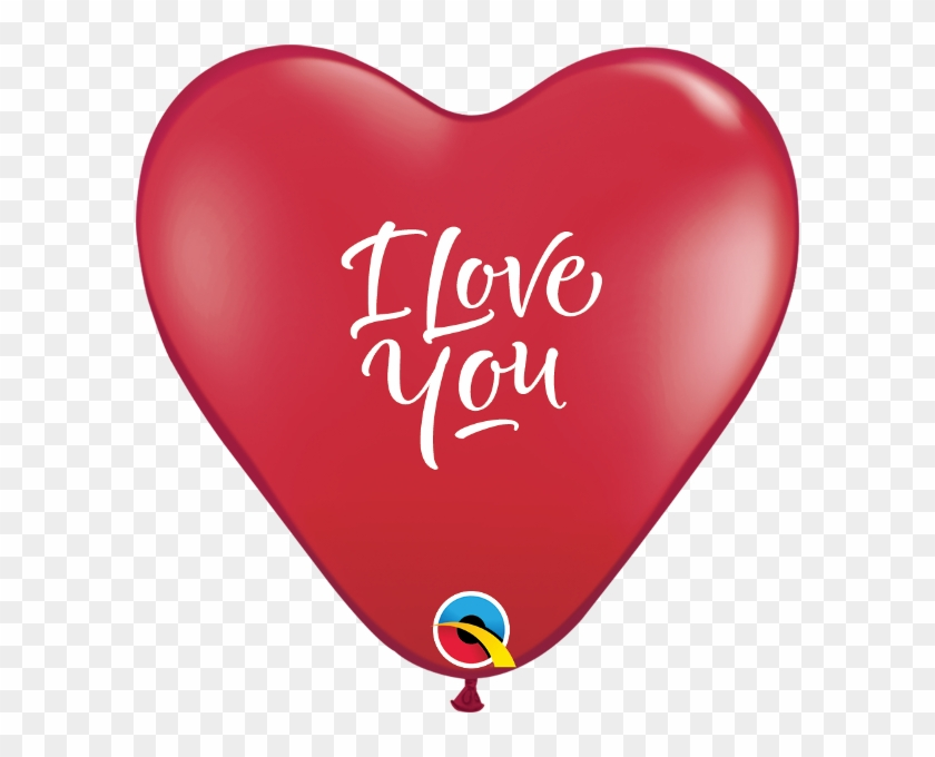 Valentines Day I Love You Script Modern Heart - 11 Inch I Love You Script Latex -r Red #1075159
