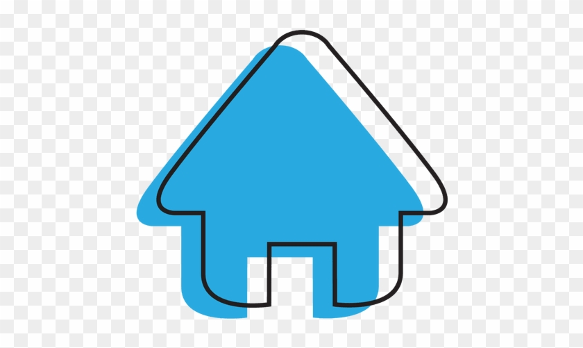 Free Buildings Icons - Blue House Icon Png #1075240