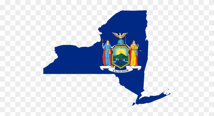 Bmcc Is Situated In Such Close Proximity To City Hall, - New York State With Flag #1075264