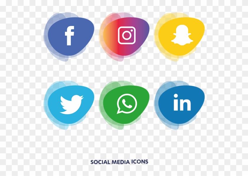 Social Media Icons Set - Social Media Icons Png #1075645