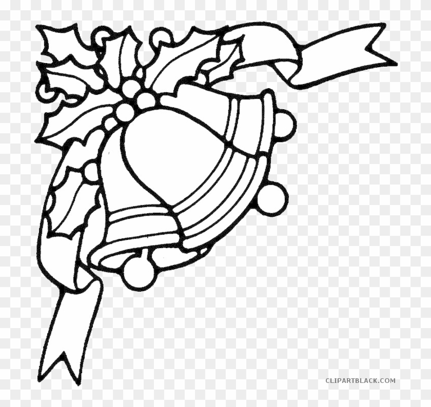 Christmas Bell Outline Tools Free Black White Clipart Christmas - Outline-coloring-pages